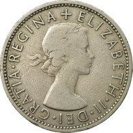 Monnaie, Grande-Bretagne, Elizabeth II, Florin, Two Shillings, 1955, TB+ - 1902-1971 : Monnaies Post-Victoriennes