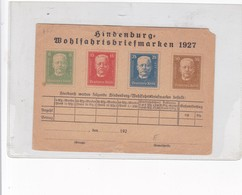 ENTERO ENTIER POSTAL STATIONERY UNUSED YEAR 1927 GERMANY- BLEUP - Ganzsachen