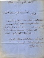 VP13.010 - NANTES 1866 - Lettre De Mr Gabriel LAURIOL ( Armateur & Grand Négociant ) - Autographs