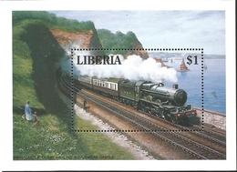 J) 2000 LIBERIA, RAYLWAY, SOUVENIR SHEET, MNH - Liberia