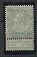 50c GRIS** N° 63**  Cote 295,-Euros   Très Beau Et Sans Charnière - 1893-1900 Thin Beard