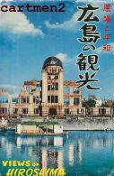 SERIE DE 8 CPA + POCHETTE  : HIROSHIMA ATOMIC BOMB HIJIYAMA ATOMIC DOME WAR GUERRE BOMBE ATOMIQUE JAPAN JAPON - Hiroshima