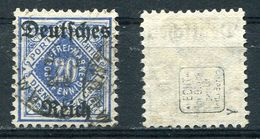 D. Reich Dienst Michel-Nr. 55Y Gestempelt - Geprüft - Dienstzegels