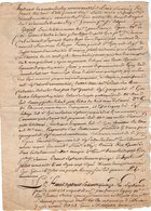 VP13.011 - Cachet Généralité De PARIS - Acte De 1775 - Entre Le Chevalier D'UZES & J.F LYON Tailleur D'Habits à PARIS - Seals Of Generality
