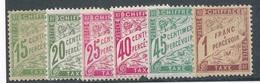 CF-169: FRANCE: Lot Avec Taxes* N°30a-31-32-35-36-40 - Taxes