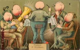 FANFARE D'ECUBLENS BELLE CPA ILLUSTRATEUR HUMOUR SURREALISME ORCHESTRE MUSIQUE SUISSE - VD Vaud