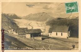 CARTE PHOTO : EGGISHORN BELALP CHAPELLE ET GLACIER D'ALETSCH - VS Valais