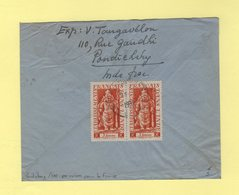 Pondichery - Inde - Recommande Par Avion Destination France - 1951 - Briefe U. Dokumente