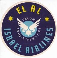 ANTIGUA ETIQUETA DE LA COMPAÑIA AEREA ISRAEL AIRLINES (AVION-PLANE) EL AL - Etiquetas De Equipaje