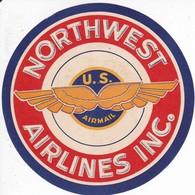 ANTIGUA ETIQUETA DE LA COMPAÑIA AEREA NORTHWEST AIRLINES (AVION-PLANE) - Etiquetas De Equipaje