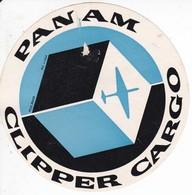 ANTIGUA ETIQUETA DE LA COMPAÑIA AEREA PANAM CLIPPER CARGO  (AVION-PLANE) - Étiquettes à Bagages