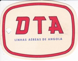 ANTIGUA ETIQUETA DE LA COMPAÑIA AEREA LINHAS AEREAS DE ANGOLA  (AVION-PLANE) DTA - Etiquetas De Equipaje