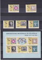 ITALIE 1985 TIMBRES SUR TIMBRES ITALIA 85 VI Yvert 1686-1690 + BF 2 NEUF** MNH - 1946-.. République