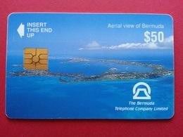 BERMUDA - $50 - Ariel View Of Bermuda Sea - Charged  RARE (CB1217) - Bermude