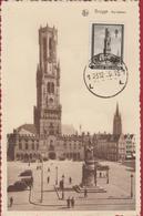 Brugge Halletoren 23 - 12 1939 Postzegeltentoonstelling Cachet Stempel Obliteration Veldleger 1914 - 1918 - Belgique
