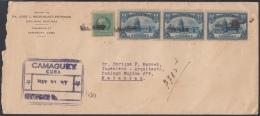 1929-H-10 (LG133) CUBA 1929. CAPITOLIO. 5c. SOBRE CERTIFICADO DE CAMAGUEY A MATANZAS. MARCA CERTIF. - Cuba