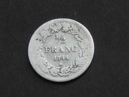 1/2 Demi Franc 1844 - Belgique - Léopold Premier Roi Des Belges  **** EN ACHAT IMMEDIAT **** - 1831-1865: Léopold I