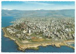 CPSM BEYROUTH MODERNE, VUE GENERALE ET LE NOUVEAU QUARTIER DU PHARE, MODERN BEIRUT, GENERAL VIEW, LIBAN - Liban