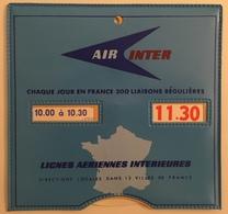 Horodateur Air Inter Aéronautique. Disque De Stationnement. - Aviation Commerciale