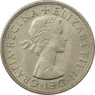 Monnaie, Grande-Bretagne, Elizabeth II, 1/2 Crown, 1961, TB+, Copper-nickel - 1902-1971 : Monnaies Post-Victoriennes