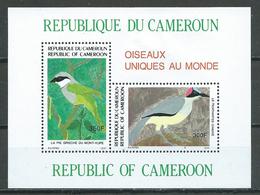 Cameroun Bloc-feuillet YT N°29 Oiseaux Uniques Au Monde Neuf/charnière * - Kamerun (1960-...)