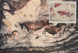 Carte  Maximum  1er  Jour    FRANCE   GROTTE  DE  LASCAUX    MONTIGNAC   1968 - Prehistory