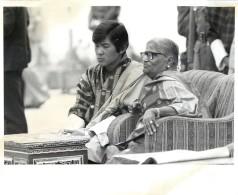 BHOUTAN KING JIGME SINGYE WANGCHUCK YHIMPHU HIMALAYA BHUTAN INDIAN PRESIDENT'S WIFE CORONATION - Bhutan