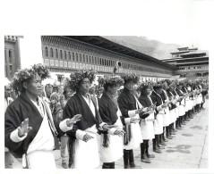 BHOUTAN BHUTAN DANCERS TASHISKKO DZONG THIMPHU CORONATION KING JIGME SINGYE WANGCHUCH - Bhutan