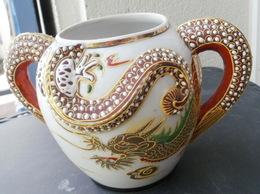 SUCRIER En Porcelaine Du Japon, Tête De Dragon  Pas De Couvercle - Céramiques