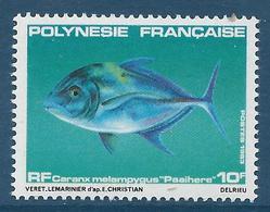 POLYNESIE FRANCAISE 1983 - YT N°193 - Faune Marine - Poisson - 10 F. Caranx Melampygus - Neuf** - TTB Etat - Polinesia Francese