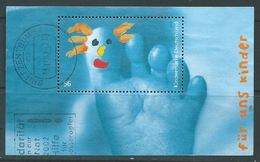 ALLEMAGNE ALEMANIA GERMANY DEUTSCHLAND BUND 2002 FÜR DIE KINDER  BLOCK USED MI B60-2280 YV BF59-2110 SC MS-2178 SG MS313 - Blocks & Kleinbögen