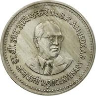 Monnaie, INDIA-REPUBLIC, Rupee, 1990, TB+, Copper-nickel, KM:85 - Inde