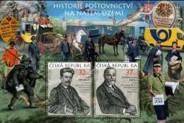 2017 Czech Rep. - History Of POstal Services In Czech - Praha 2018 - MS - MNH** MiNr. 953 - 954 (Block 67) Horses, Coach - Tschechische Republik