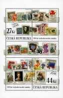 2018 Czech Rep. -100 Years Czechoslovakian Stamp - Praha 2018 - MS - MNH** MiNr.Block 69 (rg) Stamp On Stamp - Tschechische Republik