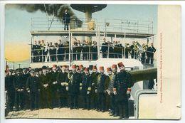 Turquie ( Constantinople ) Croiseur Ottoman ( Navire Vapeur ) Abdoul Medjib Avec Les Fonctionnaires - Bon état - Turchia