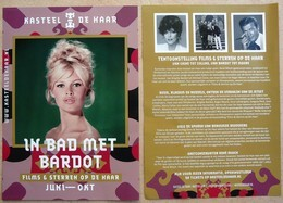 Flyer Brigitte BARDOT Au Château Kasteel De Haar Aux Pays Bas - Posters