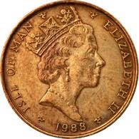 Monnaie, Isle Of Man, Elizabeth II, Penny, 1988, TB+, Bronze, KM:207 - 1971-… : Monnaies Décimales