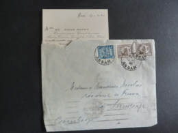 ERINNOPHILIE  Timbre Indochine Cachets à Date Annam, SAIGON CENTRAL Cochinchine AUTOGRAPHE CARTE DE VISITE ,  Glas - Indochina (1889-1945)
