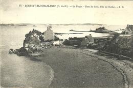LOGUIVY  PLOUBAZLANEC  -- -- La Plage, Dans Le Fond L'ile De BREHAT                            -- AB 57 - Autres Communes