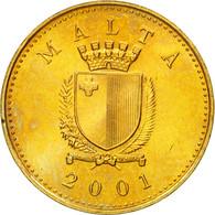Monnaie, Malte, Cent, 2001, TTB+, Nickel-brass, KM:93 - Malta