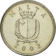 Monnaie, Malte, 2 Cents, 2002, TTB+, Copper-nickel, KM:94 - Malte