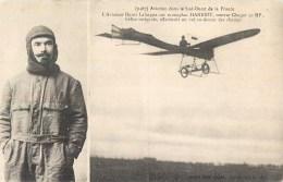 AVIATEUR HENRI LAFARGUE MONOPLAN HANRIOT SUD-OUEST AVIATION - Aviateurs