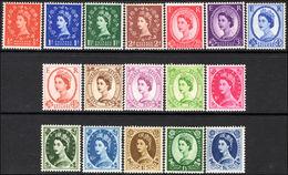 1958-65 Wildings Set, Wmk Crowns Unmounted Mint. - 1952-.... (Elizabeth II)