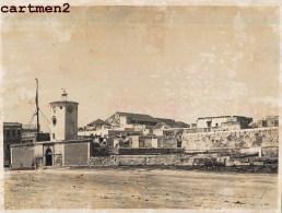 2 GRANDE PHOTOGRAPHIE ANCIENNE : ANCIEN BAGNE DE LA GOULETTE 1881 PALAIS DE HASSAN SAID TUNISIE - Tunisia