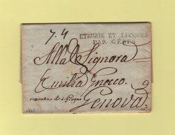 Etrurie Et Lucques Par Genes - 1807 - Destination Genes - ...-1850 Préphilatélie