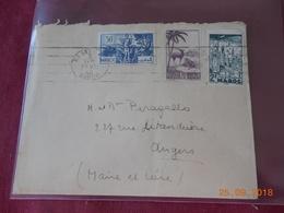 Lettre Du Maroc De 1946 A Destination D Angers - Maroc (1891-1956)