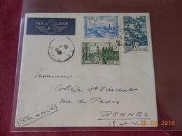 Lettre Du Maroc A Destination De Rennes - Maroc (1891-1956)