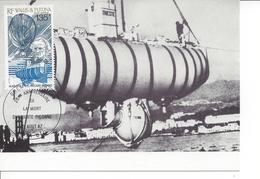 WALLIS AND FUTUNA - 1987 - MC - AUGUSTE PICCARD ......... WNV - Sottomarini