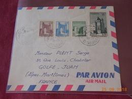 Lettre Du Maroc De 1959 A Destination De Golfe Juan - Maroc (1956-...)