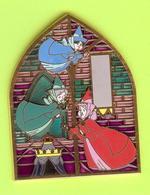 Gros Pin's BD Disney Fées-Marraines Flora Pâquerette Pimprenelle (La Belle Au Bois Dormant) ÉL RARE- #355 - Disney